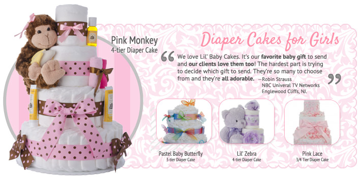 Girls Diaper Cakes