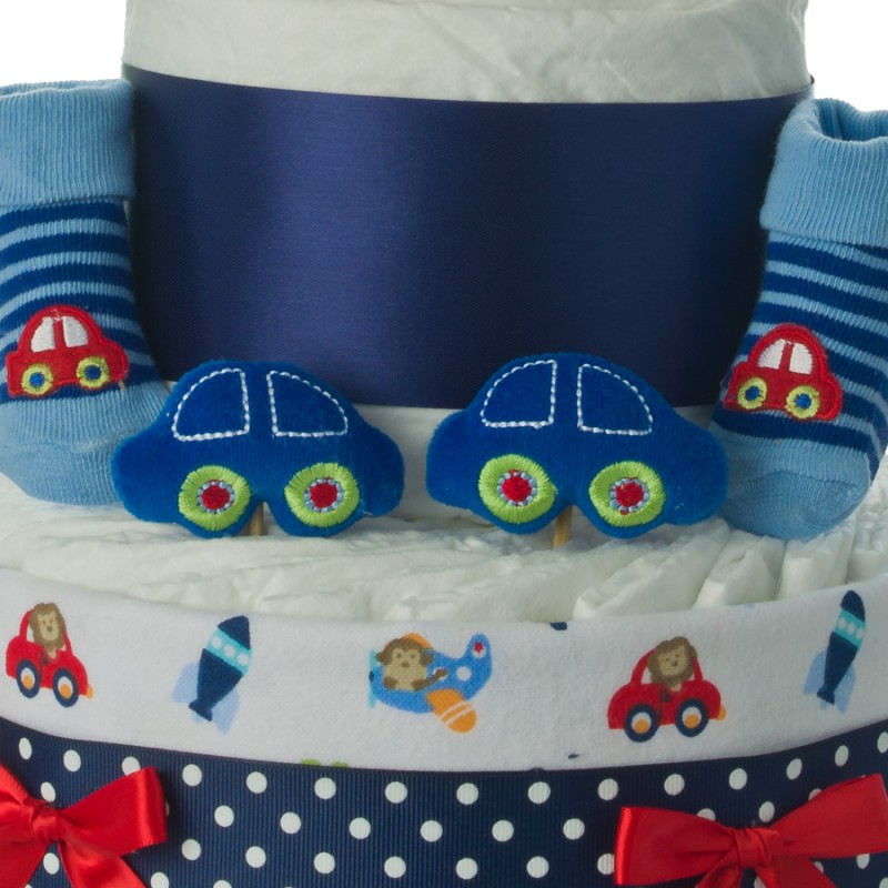 Baby Shower Themes Cars ~ Car themed diaper cake baby shower cakes unique