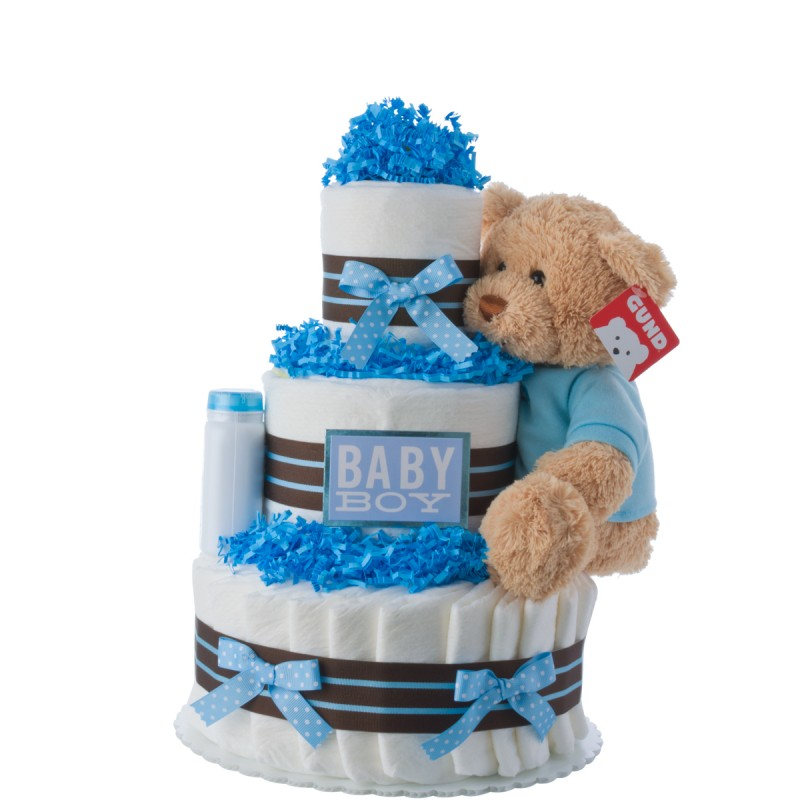 Baby Boy Gift Cake : Our lil darling boy diaper cake baby shower cakes