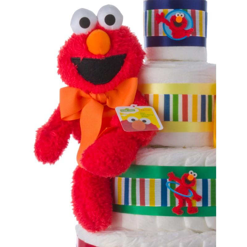 Elmo 4 Tier Diaper Cake  Baby Shower Diaper Cakes  Unique Diaper