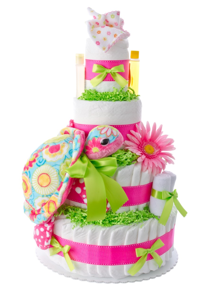 how to make baby girl nappy cakes