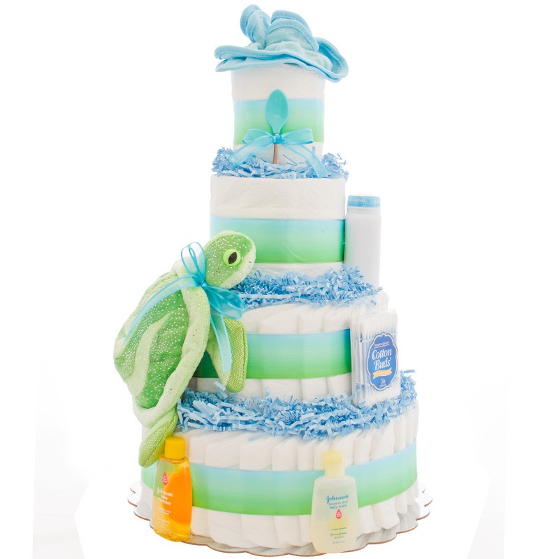 how to make a 5 tier diaper cake