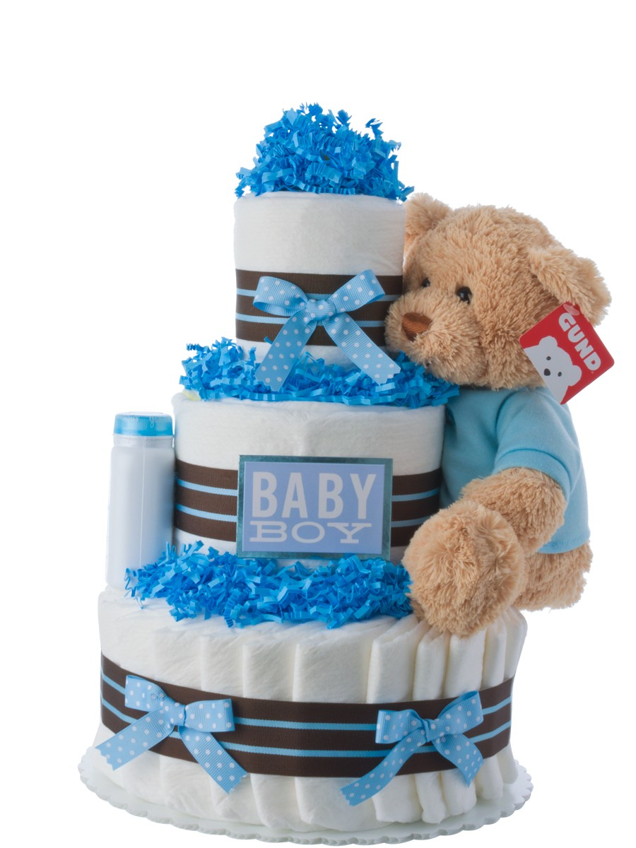 Our Lil Darling Boy Diaper Cake Baby Shower Diaper Cakes