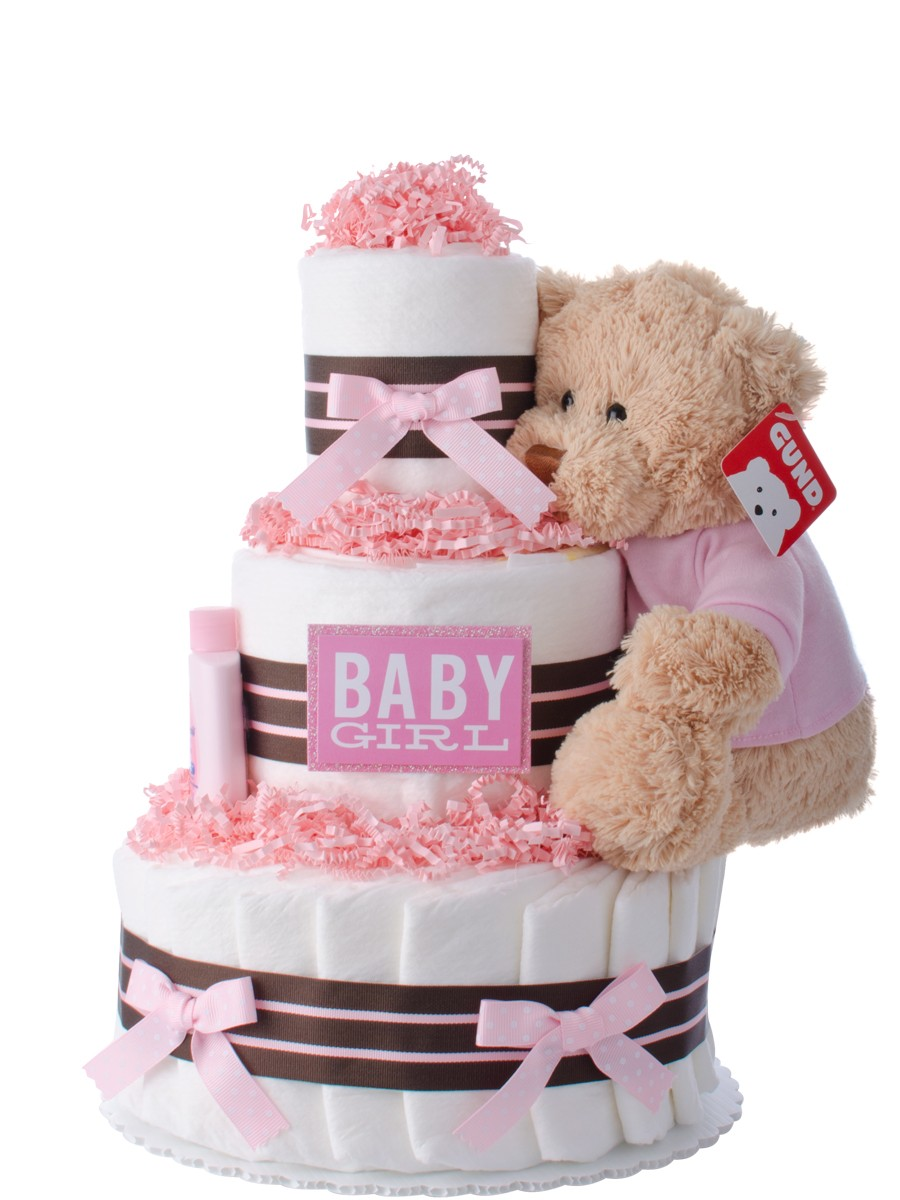 Our Lil Darling Girl Diaper Cake | Baby Shower Diaper ...