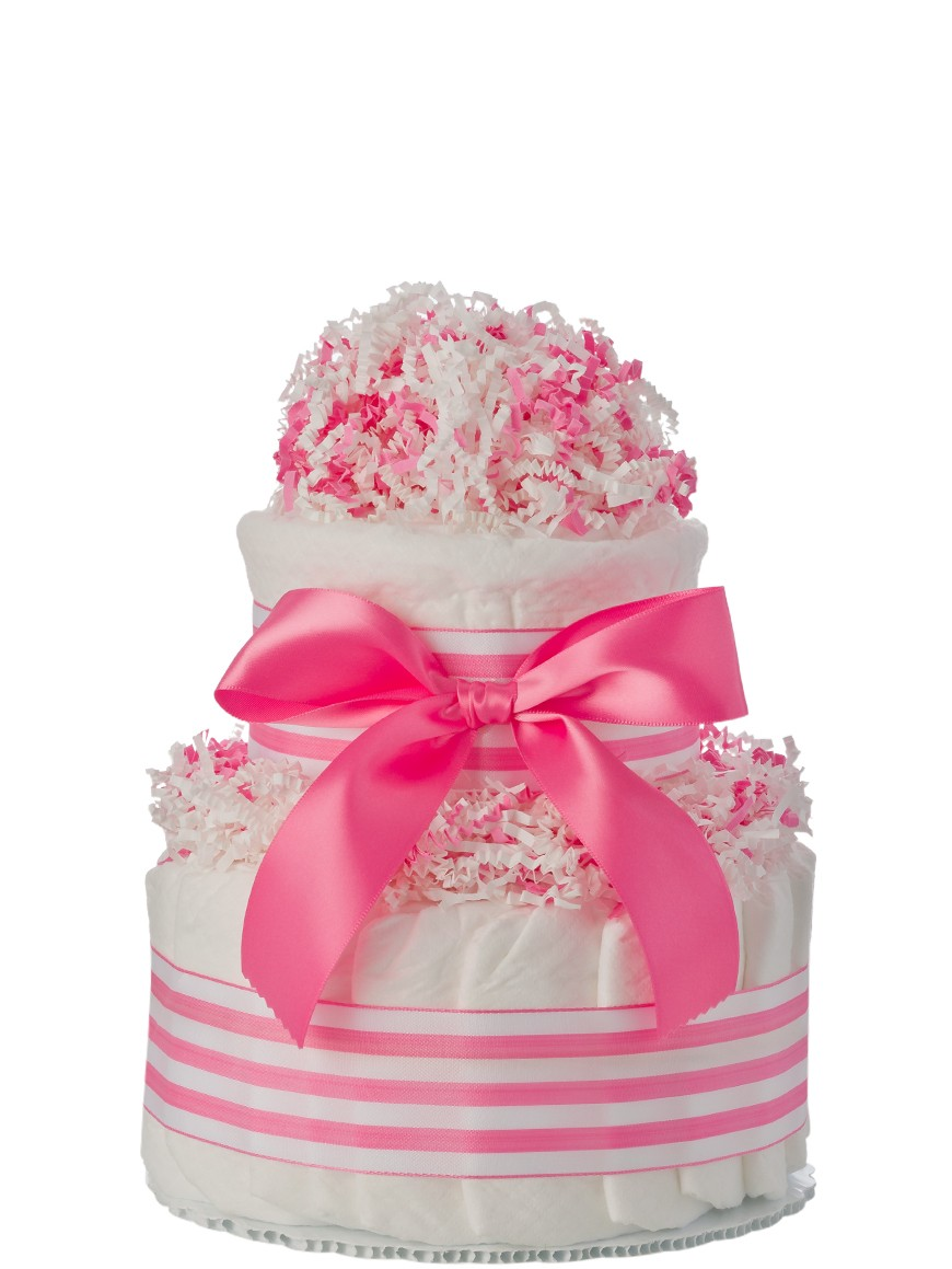 mini tickled pink 2 tier cake baby shower cakes