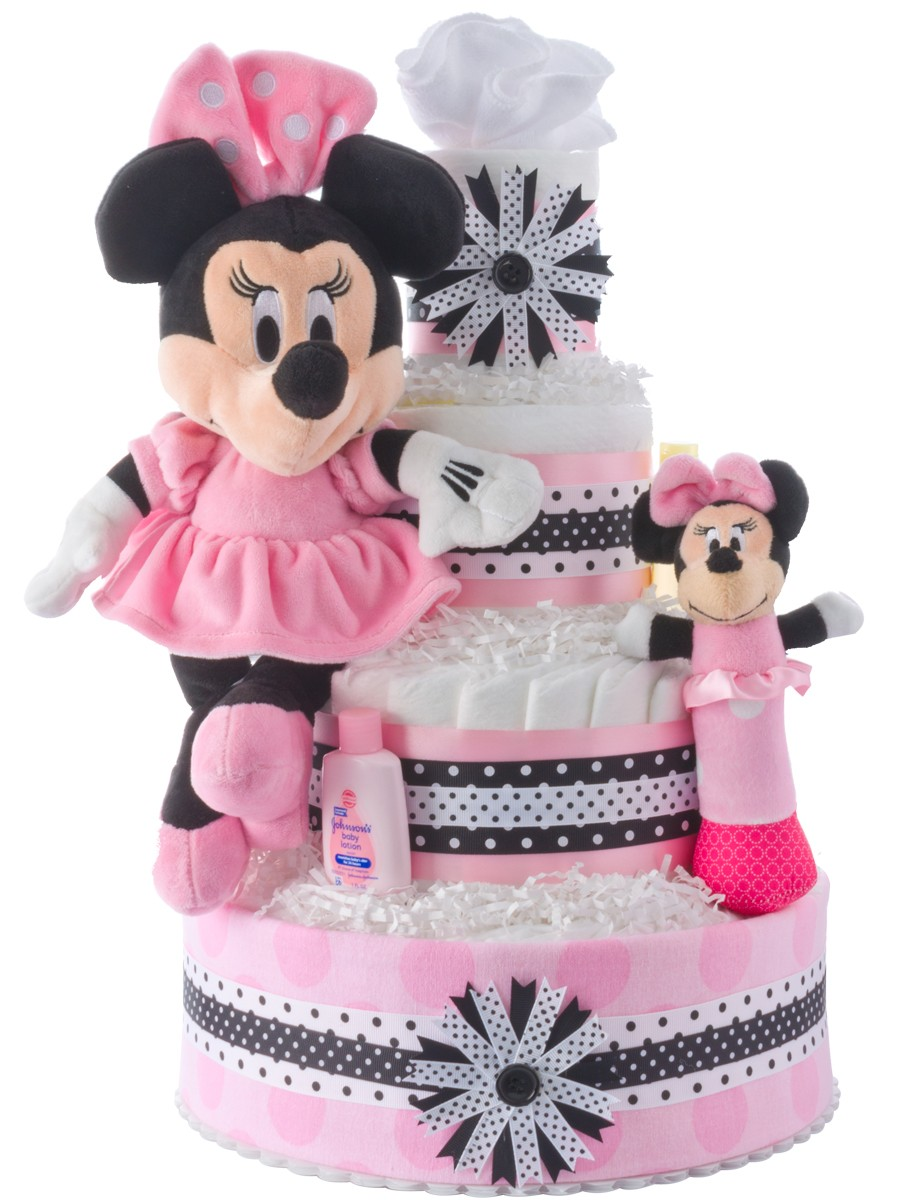 How To Make A Minnie Mouse Diaper Cake