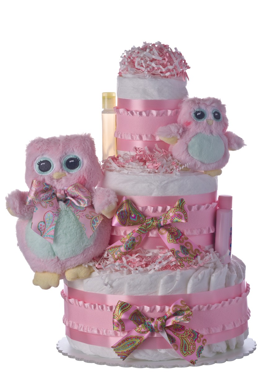 Owls Baby Shower Cakes