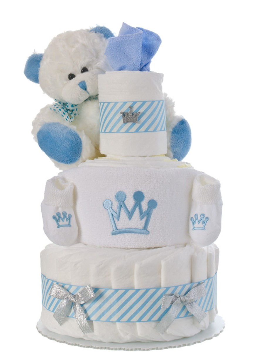 our lil prince boy diaper cake