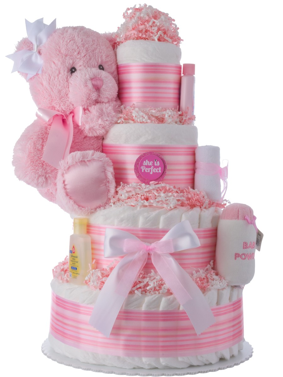 she 39 s perfect baby shower diaper cakes unique diaper cake gifts