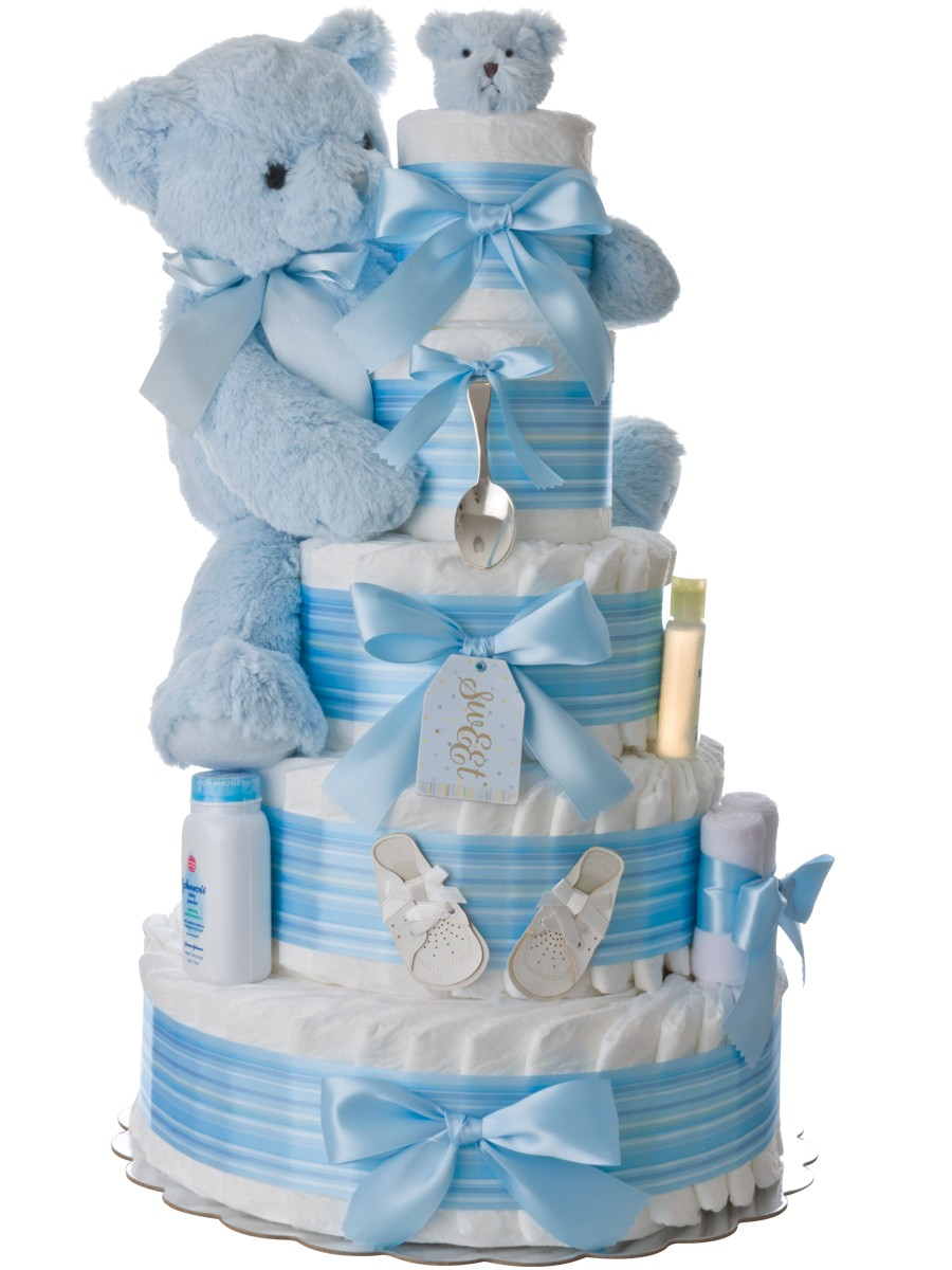 How To Make A Diaper Cake For A Boy
