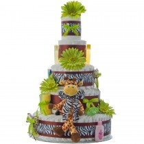 5 Tier Safari Diaper Cake