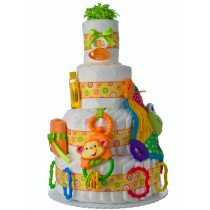 Let's Play 4 Tier Baby Diaper Cake
