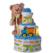 Lil Baby Cakes Bear and Truck Boys Three Tier