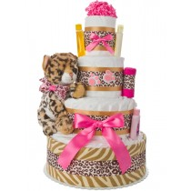 Lil' Baby Leopard 4 Tier Diaper Cake
