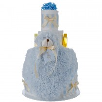 Lil' Blue Bear 4 tier diaper cake
