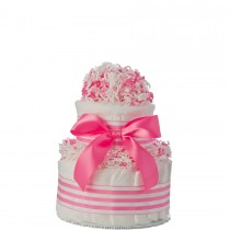 Mini Tickled Pink Diaper Cake