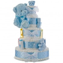 My First Teddy Bear Blue Diaper Cake