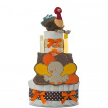 Lil' Baby Cakes Thanksgiving Turkey Diaper Cake