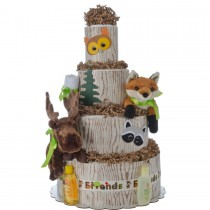 Forest Friends 4 Tier Diaper Cake