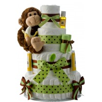 Our Lil' Monkey 4 Tier Diaper Cake