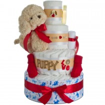 Puppy Love Diaper Cake by Lil' Baby Cakes