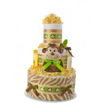 Smiling Monkey Baby Diaper Cake