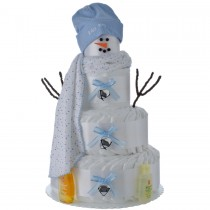Holiday Snow Boy Diaper Cake