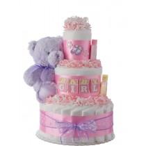Baby Blocks Diaper Cake for Girls