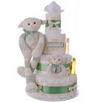 Sweet Pea Newborn Gender Neutral Lamb Diaper Cake