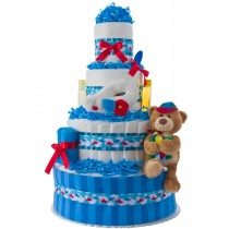 Up Up & Away Airplane Boys Diaper Cake