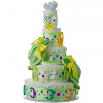 Twins Turtle 5 Tier Diaper Cake