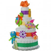 My Lil' Sea Friends 4 Tier Baby Diaper Cake | Lil Baby Cakes