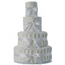 4 Tier Plain Diaper Cake
