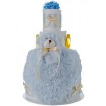 Lil' Blue Bear 4 Tier Diaper Cake