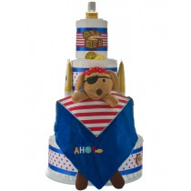 Lil Pirate 4 Tier Diaper Cake