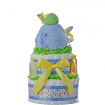 Lil' Whale 2 Tier Diaper Cake