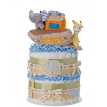 Noahs Ark 2 Tier Diaper Cake