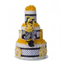 Lil Baby Cakes Sweet Bee Three Tier Diaper Cake