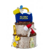 Under Construction Tools Diaper Cake