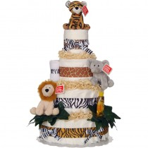 Welcome To The Jungle 4 Tier Diaper Cake