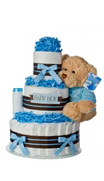 Our Lil' Darling Boy 3 Tier Diaper Cake