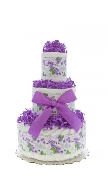 Forget Me Not 3 Tier Diaper Cake