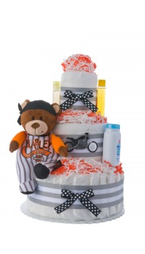 Lil' Harley Diaper Cake for Boys