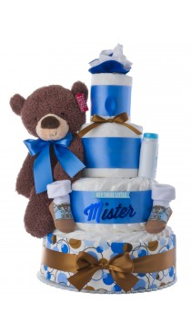 Hey There Lil' Mister Diaper Cake for Boys