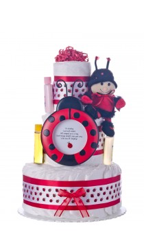 Lil' Ladybug 3 Tier Diaper Cake