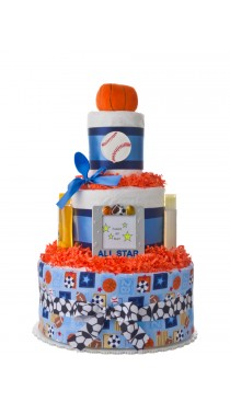 Lil' All Star Boys Baby Diaper Cake
