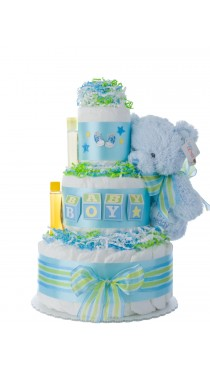 Baby Blocks Diaper Cake for Boys