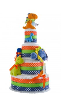 Lil Dino Baby Diaper Cake