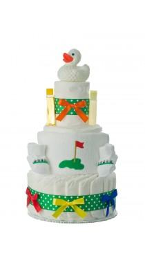 Lil' Duck Golfer Diaper Cake