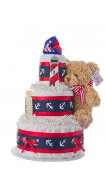 Lil' Navigator Baby Diaper Cake for Boys